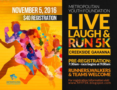 MYF-Live, Laugh & Run 5K - Flyer